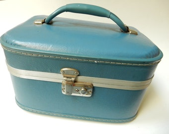 Blue Cosmetic Suitcase