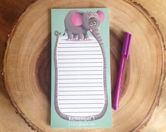 Elephant Notepad / Elephant List Making / Elephant Doodle Pad / Elephant Stationery