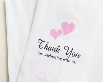 ON SALE Thank You For Celebrating With Us Candy Buffet Favor Bags, Wedding Candy Bags, Gift Bag, Candy Bar Bags