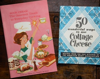 American Dairy Association Advertising Recipe Booklets ~ 50 Wonderful Ways To Use Cottage Cheese ~ Sour Cream The Gourmet Touch