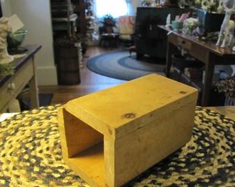 Primitive, Antique, Vintage Wooden Rectangle Butter Mold
