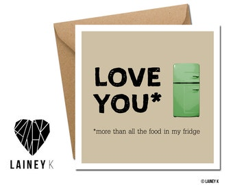 Fun & quirky Valentine's Day Card.