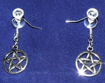 Pentagram earrings, Wiccan, Pagan, Wicca