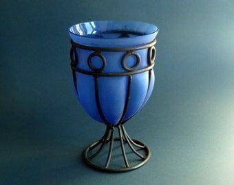 art deco Nancy fer forge vase