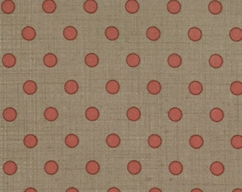 RED spot on brown quilting fabric 13563-22
