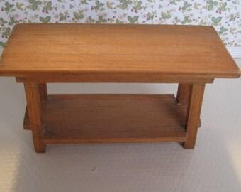 Dollhouse Miniature Vintage Handmade Table ~ 1:12 scale.