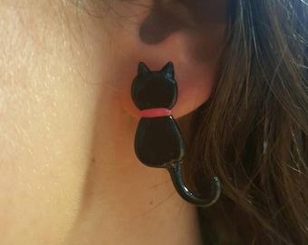 Earring Pink Cat
