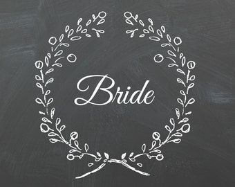 Bride/Groom chalkboard sign