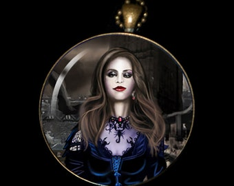 """Necklace of a Painting of mine Entitled - """"Drucilla"""""""