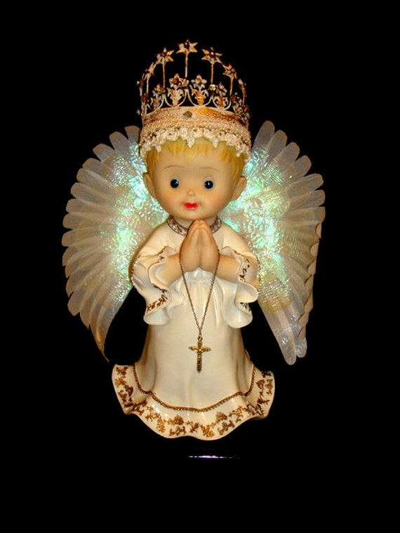 Sale Fiber Optic Angel Lamp With Lights And Moving Wings
