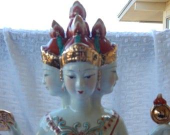 Vintage Brahma Figure Hindi Goddess
