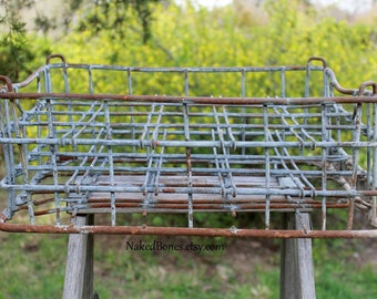 Wire Milk Crate - Vintage 20 Bottle Carrier - Purity Products Dairy
