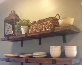 reclaimed wood shelf, rustic barn wood shelf, floating shelves,storage and organization, MADE TO ORDER, hardware not included