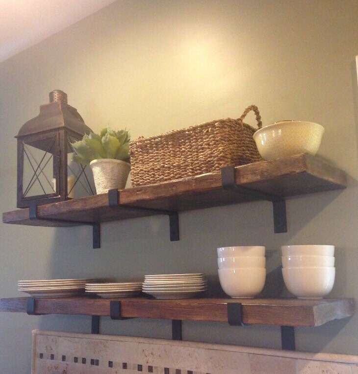 Barn Wood Shelves ~ Reclaimed wood shelf barn floating
