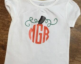 Monogram Initials Pumpkin Shirt