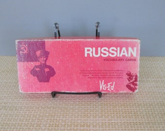 Vintage Russian Vocabulary Cards by Vis-Ed in Original Box 1970s