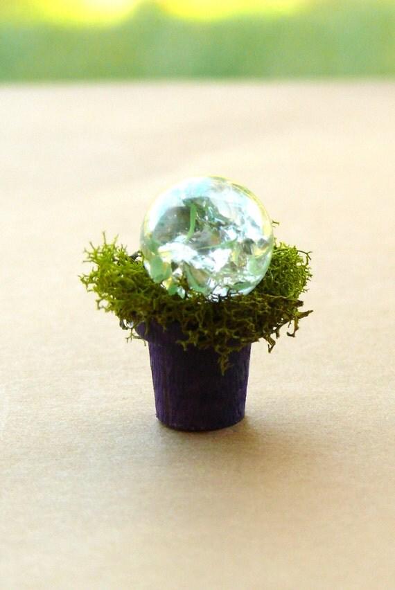 Cracked Crystal Clear Gazing Ball Garden Ball Orb Fairy