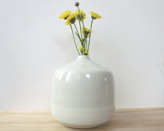 Extra Large Light Green Bottles. Vase. Pale mint. Modern. Home decor. Unique gift. Ceramic. Flowers. Handmade pottery. READY TO SHIP.