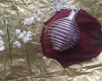Amethyst Cage Necklace