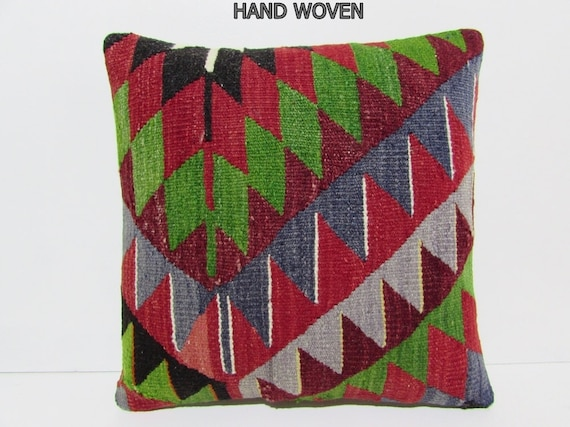 Zippered Floor Pillows : kilim pillow zipper pillow cover 18x18 DECOLIC large floor