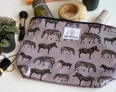 Zebra Print Toiletry Bag  zebra Wash Bag  zebra Gift for her   Gift for him   Travel bag   zebra print   birthday gift   travel bag