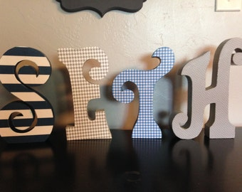 Custom wood letters. Wood letters. Nursery letters. Bedroom decor.