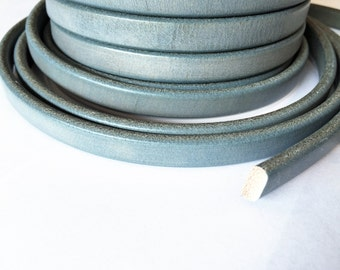 Mini Regaliz Faded Denim Blue Leather Cord, Jewelry finding, Leather Bracelet Supplies