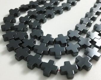 48pcs  8mm hematite cross beads ,cross beads ,hematite beads wholesale beads