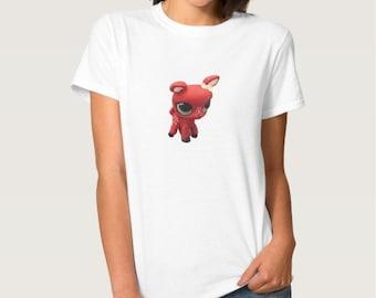 Adult Women's Custom Littlest Pet Shop Retro Deer T-Shirt