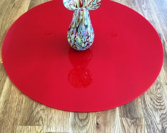 Round Worktop Saver in Red Acrylic - 3 Sizes Available
