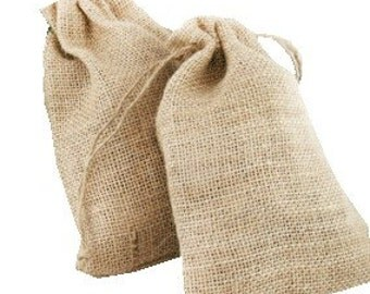 5x hessian bags, drawstring bags, rustic wedding, small jute bags, gift for her, bomboniere, wedding favors, hessian wedding, gift bags