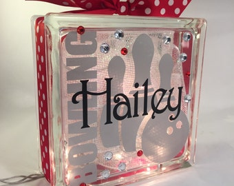 Bowling GemLight. Bowling Gift. Personalized