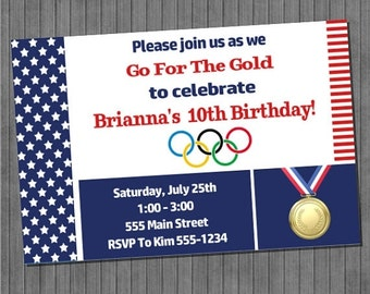 LIMITED TIME 40% OFF Olympic Party Invitation