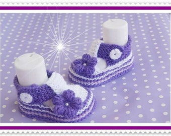 Baby shoes girl shoes baby shoes white purple/white