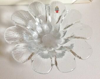 HOLMEGAARD Royal Copenhagen glass petal bowl dish Sidse Werner RETRO