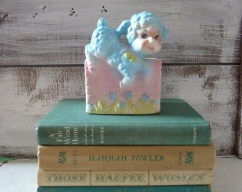 Vintage baby planter Vintage nursery decor retro baby lamb planter Baby shower decor Baby gift Baby shower centerpiece Baby room accessory