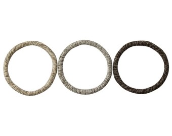 Sisal Hoop Trio Gift Set - Stylish and Durable Natural Cat Toy Gift Set - Beautiful Toys for Cats and Kittens in Striped Tones