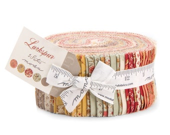 Moda 3 Sister's LARKSPUR Shabby Floral Jelly Roll Fabric 2.5 Inch Strips