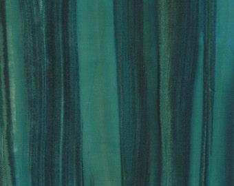 MODA Aurora Batiks Bright Blue Teal Green Batik Fabric BTY