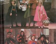 Vintage 1992 Simplicity Costume Pattern 8004 Child's Sm Med Large