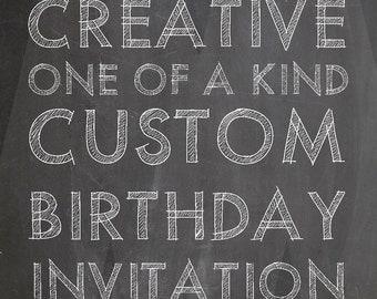Custom Birthday Invitation