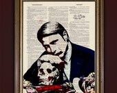 Hannibal - The Table is Set - Buy 2 Get 1 Free! -- Dictionary Print Illustration --Antique Book Page Creepy Home Decor Unique Mads Mikkelsen