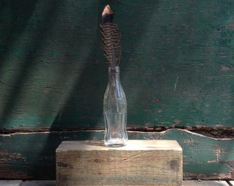 vintage coke bottle / vintage glass bottle