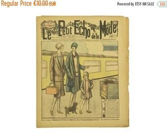 ON SALE Le Petit Echo De La Mode Edition Number 39, 23 September 1928. Flapper Fashion Illustration. Paris Fashion. 1920s French Fashion Mag