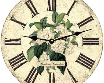 Gardenia Flower Wall Clock