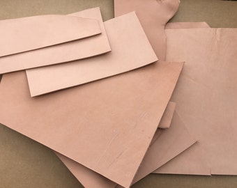 Tanned Leather scraps - Carving leather - Utility Leather Scrap Pieces - Various sizes from small to large
