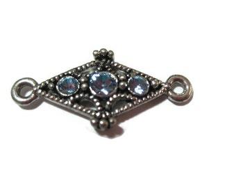 Topaz Blue Crystal Spacer Beads - 4 - by Swarovski