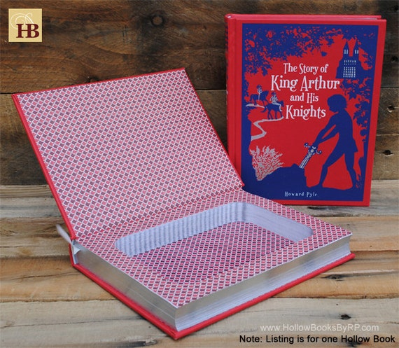 Book Safe - King Arthur and His Knights - Leather Bound Hollow Book Safe