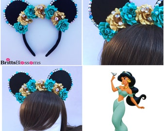 Princess Jasmine Mouse Ears, Minnie Mouse Ears, Disneyland, Disney World, Mickey Mouse Ears, Disney Princess, Aladdin