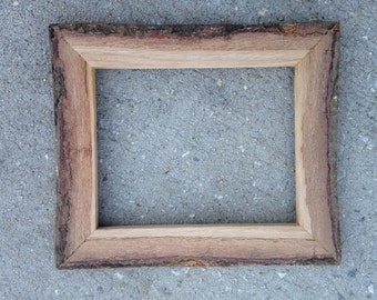 8x10 Oak Bark Picture Frame